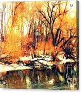 Inizio Inverno Acrylic Print by Halina Nechyporuk