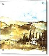 Ink Landscape Acrylic Print
