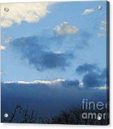Inkblot Clouds 1 Acrylic Print