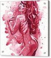 Inktober 1 Scarlet Fever Acrylic Print