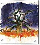 Inktober 19 Burning Tree Acrylic Print