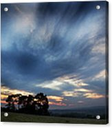 Inky Sunset Acrylic Print by Ed Pettitt
