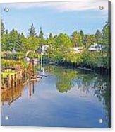 Inlet Of The Columbia River At Skamokawa Washington Acrylic Print