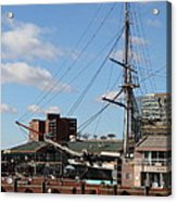 Inner Harbor At Baltimore Md - 12128 Acrylic Print