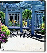 Inniswood Garden Structure Acrylic Print