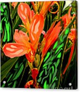 Inpressionistic Garden Acrylic Print