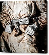 Insane Person In Restraints Acrylic Print by Daniel Hagerman