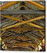 Inside A Covered Bridge 3 Acrylic Print