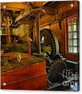Inside A Grist Mill Acrylic Print