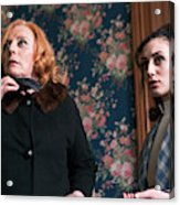 Inside A House, Two Women Stand Looking Acrylic Print