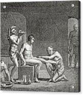 Inside An Egyptian Bathhouse, C.1820s Acrylic Print