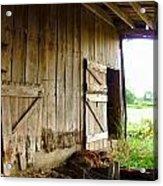 Inside An Indiana Barn Acrylic Print by Julie Dant