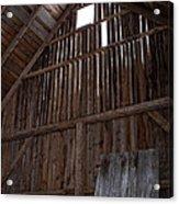 Inside An Old Barn Acrylic Print