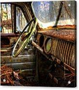 Inside An Old Truck Acrylic Print