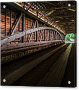 Inside Covered Bridge Acrylic Print