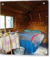Inside Savage River Cabin In Denali Np-ak   Acrylic Print