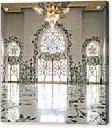 Inside Sheikh Zayed Grand Mosque - Abu Dhabi Acrylic Print