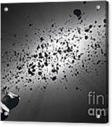 Inside The Asteroid Belt Against The Sun Acrylic Print by Johan Swanepoel