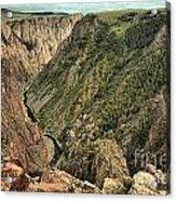 Inside The Black Canyon Acrylic Print