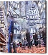 Inside The Blue Mosque Acrylic Print