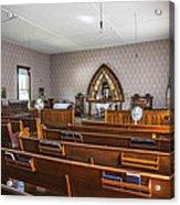 Inside The Church Acrylic Print