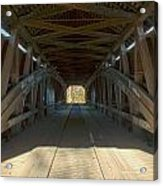 Inside The Cox Ford Covered Bridge Acrylic Print