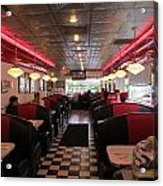 Inside The Diner Acrylic Print by Randall Weidner