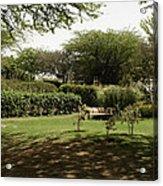 Inside The Garden Of 5 Senses In Delhi Acrylic Print