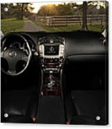 Inside The Lexus Is250 Acrylic Print
