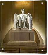 Inside The Lincoln Memorial Acrylic Print