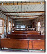 Inside The Little Church - World Mining Museum Acrylic Print