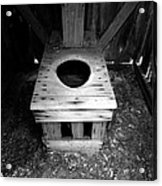 Inside The Outhouse Acrylic Print