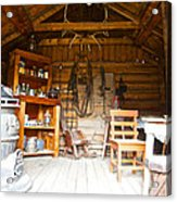 Inside The Real Sam Mcgee's Cabin In Macbride Museum In Whitehorse-yk Acrylic Print
