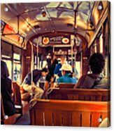 Inside The St. Charles Ave Streetcar New Orleans Acrylic Print