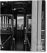 Inside Trolley 28 Black And White Acrylic Print