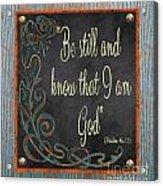 Inspirational Chalkboard-b2 Acrylic Print
