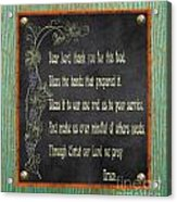 Inspirational Chalkboard-d2 Acrylic Print