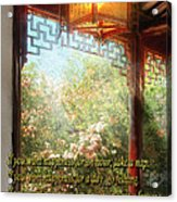 Inspirational - Happiness - Simply Chinese Acrylic Print