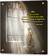 Inspirational - Heavenly Father - Senrenity Prayer  Acrylic Print