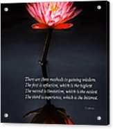 Inspirational - Reflection - Confucius Acrylic Print by Mike Savad