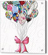 Inspirational Uplifting Floral Balloon Art A Bouquet Of Balloons Just For You By Megan Duncanson Acrylic Print