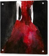 Inspired By Alexander Mcqueen Fashion Illustration Art Print Acrylic Print