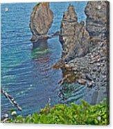 Interesting Rock Shapes In Trinity Bay Near Skerwink Trail-nl Acrylic Print