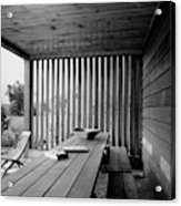 Interior End Of Porch With Vertical Louvers Acrylic Print
