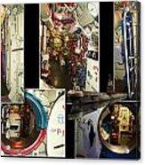 Interior Hatches Collage Russian Submarine Acrylic Print