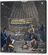 Interior Of A Kalmuk Yurt, 1812-13 Acrylic Print