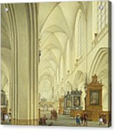 Interior Of Antwerp Cathedral, C.1668 Acrylic Print