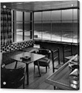 Interior Of Beach House Owned By Anatole Litvak Acrylic Print