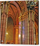 Interior Of Hungarian Parliament Acrylic Print