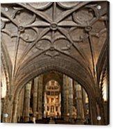 Interior Of Jeronimos Monastery Church In Lisbon Acrylic Print